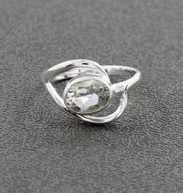 Prasiolite Ring (Green Amethyst) Sterling Silver Ring (Size 7) - R-21157-08-23-12