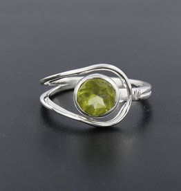 Peridot Sterling Silver Ring (Size 6, 8) - R-22872-04-32-7