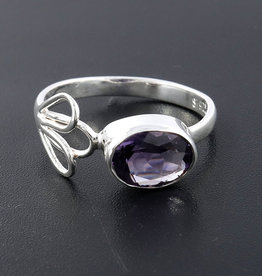 Amethyst Sterling Silver Ring (Size 8) - R-21156-08-26-4