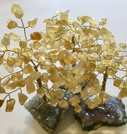 Citrine Bonsai Tree on Amethyst Base - Lg - TREECIT8