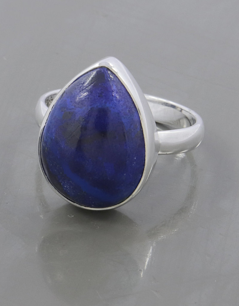 Azurite, Malachite and Sterling Silver Ring (Size 8) - AGR-20229-313