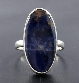 Orange Sodalite and Sterling Silver Ring (Size 7.5) - R-20229-352-1-30