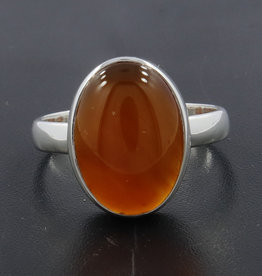 Carnelian and Sterling Silver Ring (Size 7, 8) - R-20229-229-28-8