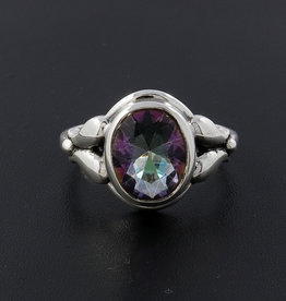 Mystic Quartz and Sterling Silver Ring (Size 10) - R-23079-02-37-10