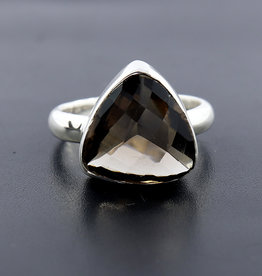 Smoky Quartz and Sterling Silver Ring (Size 7) - AGR-20229-401-29