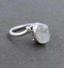 Rainbow Moonstone Sterling Silver Ring (Size 8) - R-21152-19-16-sfdf