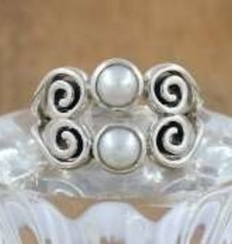 South Sea Pearl Sterling Silver Ring (Size 8) - AGR-22882-42