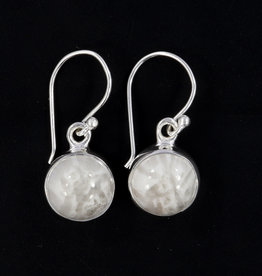 Scolecite and Sterling Silver Earrings - ER-20006-432-s21