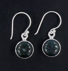 Bloodstone and Sterling Silver Earrings - ER-20006-147-a1