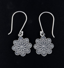 Floral Designer and Sterling Silver Earrings - AGER-09-83-a1
