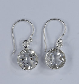 Clear Quartz and Sterling Silver Earrings - ER-20006-110-b1
