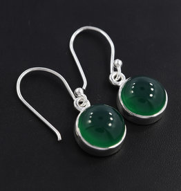 Green Onyx and Sterling Silver Earrings - ER-20006-475-5