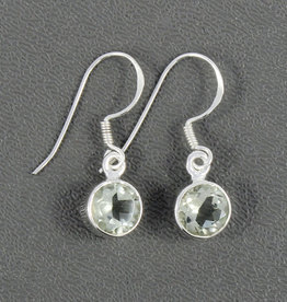 Prasiolite Dangle and Sterling Silver Earrings - ER-20006-24-27-3