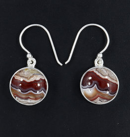 Crazy Lace Agate and Sterling Silver Earrings - ER-20006-72-b1
