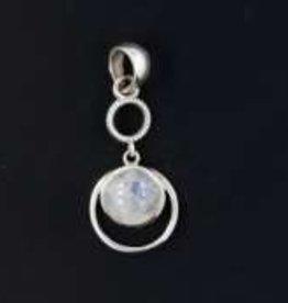 Rainbow Moonstone Sterling Silver Pendant - Pa-24248-01-564