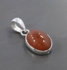 Carnelian and Sterling Silver Pendant - PA-20060-367-5-17