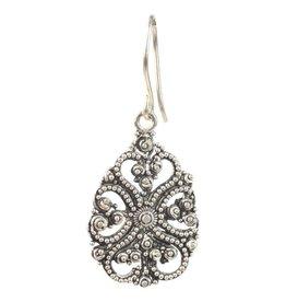 Earrings - Silver Balinese - E2231