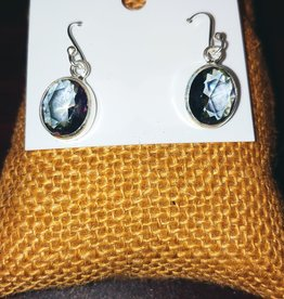 Earrings - Mystic Quartz and Sterling Silver - Oval