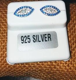 Earrings - Evil Eye and Sterling Silver Studs