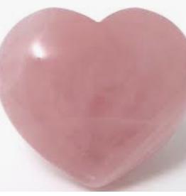 Rose Quartz Heart, larger