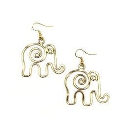 Earrings - Gold Plated Elephant - E399G