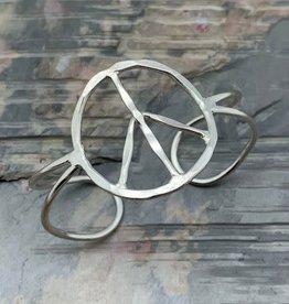 Bracelet - Peace - Silver Plated - B408