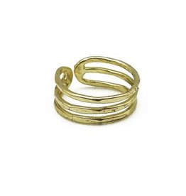 Ring - Triple Band - Gold Plated - R330G