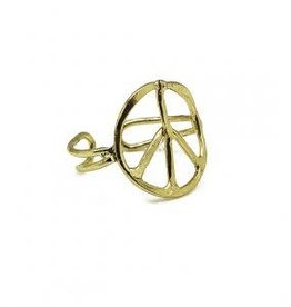 Ring - Peace - Gold Plated - R323G