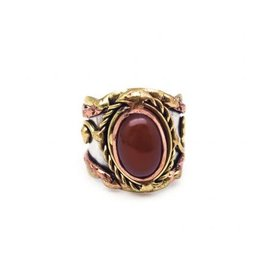 Ring - Red Onyx, Stainless Steel with Brass and Copper - R2216