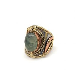 Ring - Moss Agate, Stainless Steel with Brass and Copper - R2217