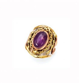 Ring - Amethyst, Stainless Steel with Brass and Copper - R2207