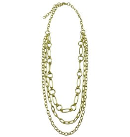 Necklace - Gold Plated Layered Necklace - 25-29 inches - NL709G
