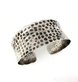 Bracelet - Hammered Antique Silver - B1407