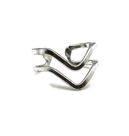Ring - Silver Plated Waves - R327