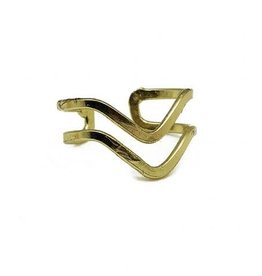 Ring - Gold Plated Waves - R327G