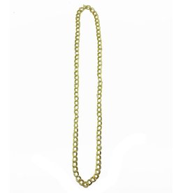 Necklace - Gold Plated, Double Wide Curb 39 inches - NL702G