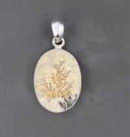 Dendritic Sterling Silver Pendant - PA-20060-306-42