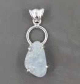 Aquamarine Sterling Silver Pendant - PA-23272-01-45-5