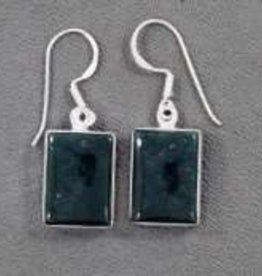 Bloodstone Sterling Silver Earrings - ER-20970-17-18-D1