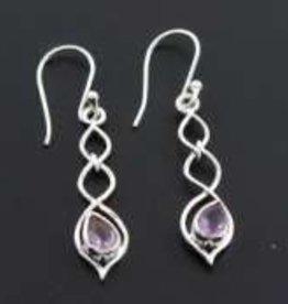 Amethyst Sterling Silver Earrings - ER-21924-2