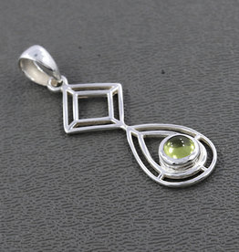 Peridot and Sterling Silver Pendant - R-23104-22-6
