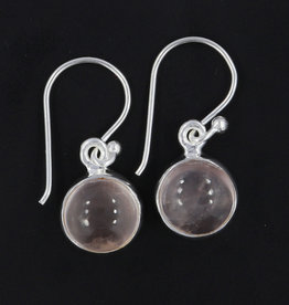 Rose Quartz and Sterling Silver Earrings - PA-21039-01-46-Q