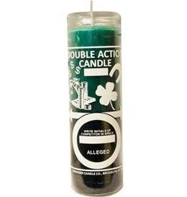 7 Day Candle - Dbl Action Money, Green-Black
