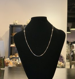 Necklace - Sterling Silver Box Chain - 18 inches