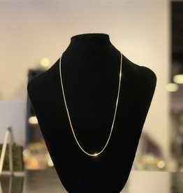 Necklace - Sterling Silver Box Chain - 20 inches