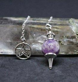 Pendulum - Amethyst and Pentacle - 00632