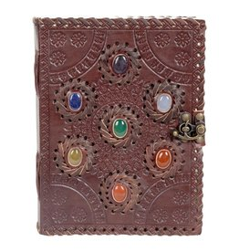Journal - Seven Chakra Leather - 6 x 8 inches - 2933