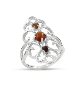 Ethiopian Opal, Filigree, Sterling Silver Ring (Size 7 1/2) - AGR-22790-08