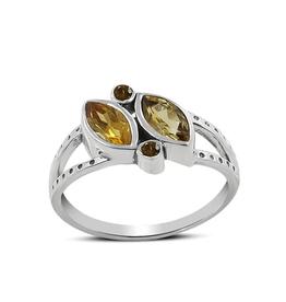 Citrine, Angular, Sterling Silver Ring (Size 8 1/2) - AGR-21415-07