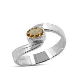 Citrine, Sterling Silver Ring (Size 6) - AGR-20253-13